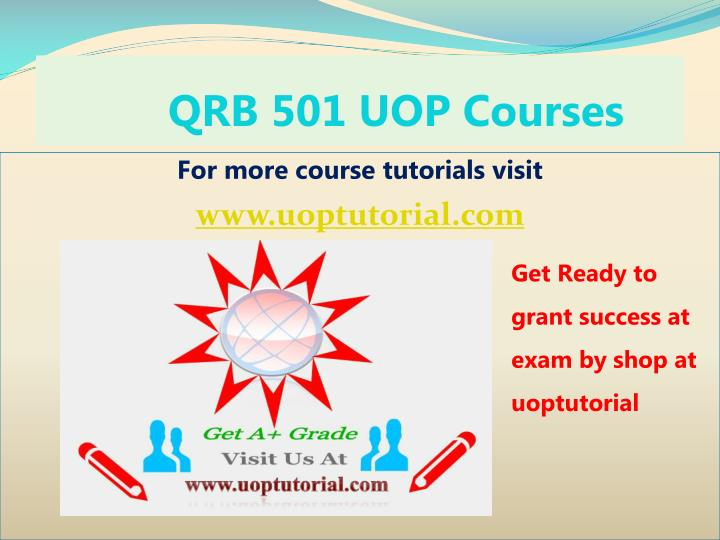 qrb 501 uop courses n.