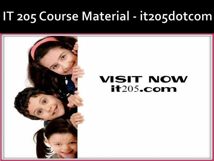 it 205 course material it205dotcom n.