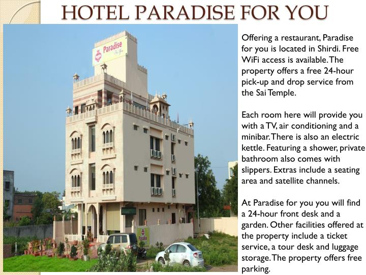 hotel paradise for you n.