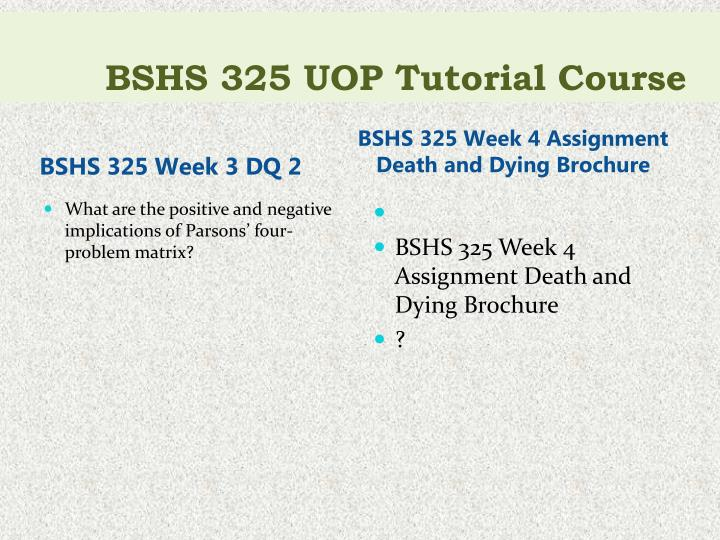 death and dying brochure View death and dying brochure from bshs 345 100 at university of phoenix death and dying recommendations to those dying and their loved ones accept that death is a.