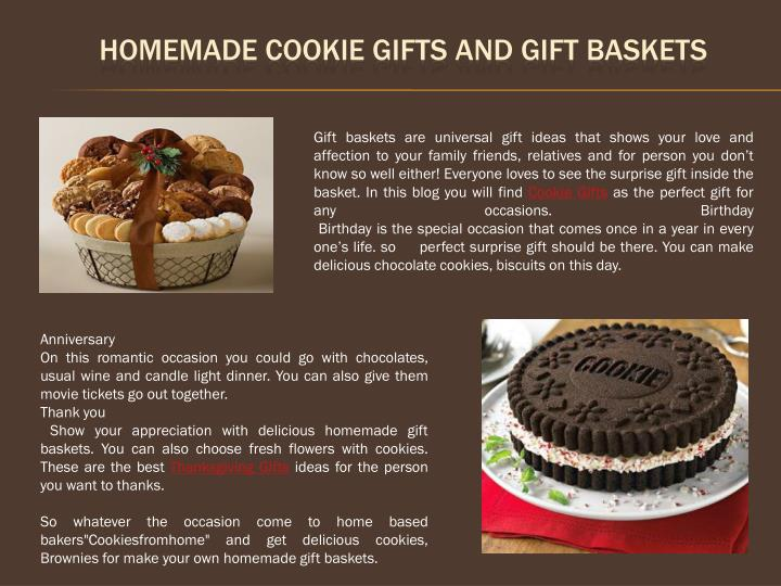 homemade cookie gifts and gift baskets n.