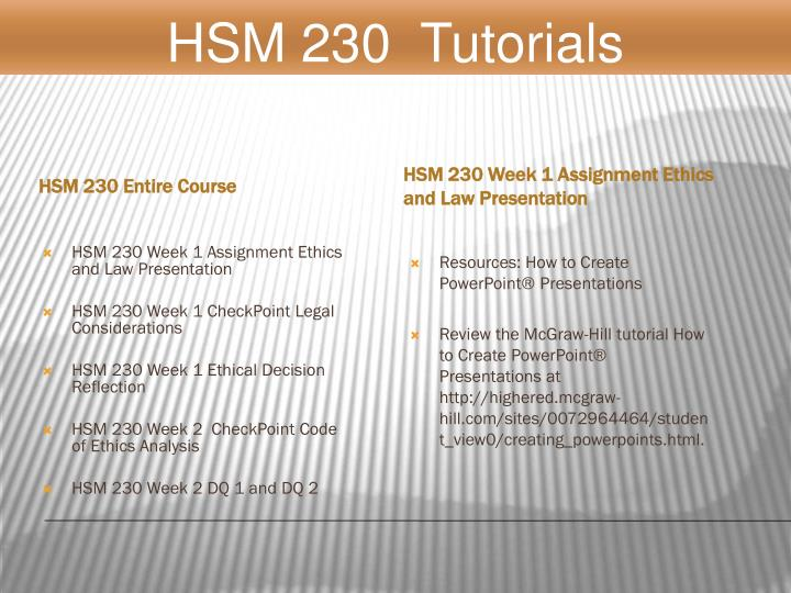 hsm 230 week 1 ethical decision