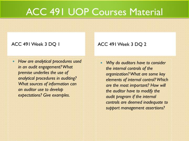 acc 491 week 1 dq 2