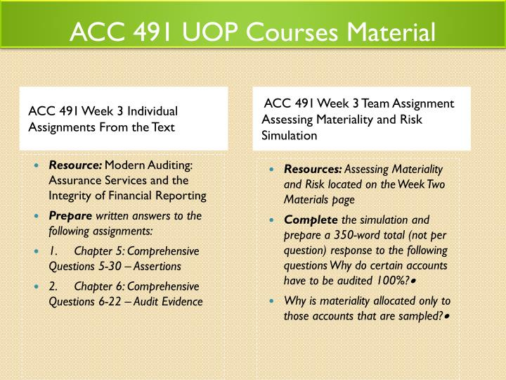 acc 491 week 3 individual study  acc 491 week 3 individual study guide chapters 5, 6, and 7 wwwpaperscholarcom direct link to this study guide.