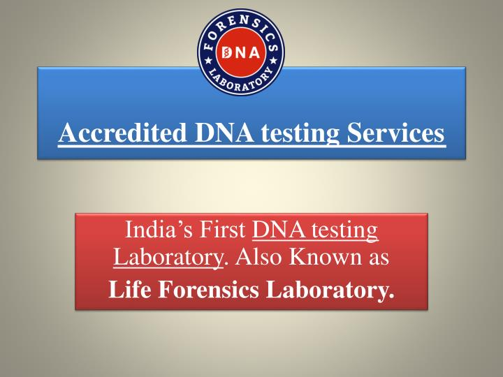 accredited dna testing services n.
