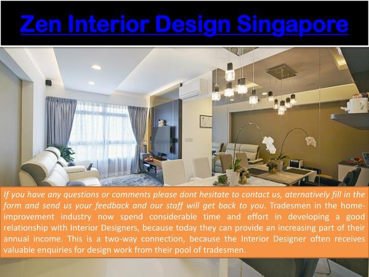 Zen interior design singapore