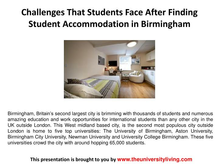 challenges that students face after finding student accommodation in birmingham n.