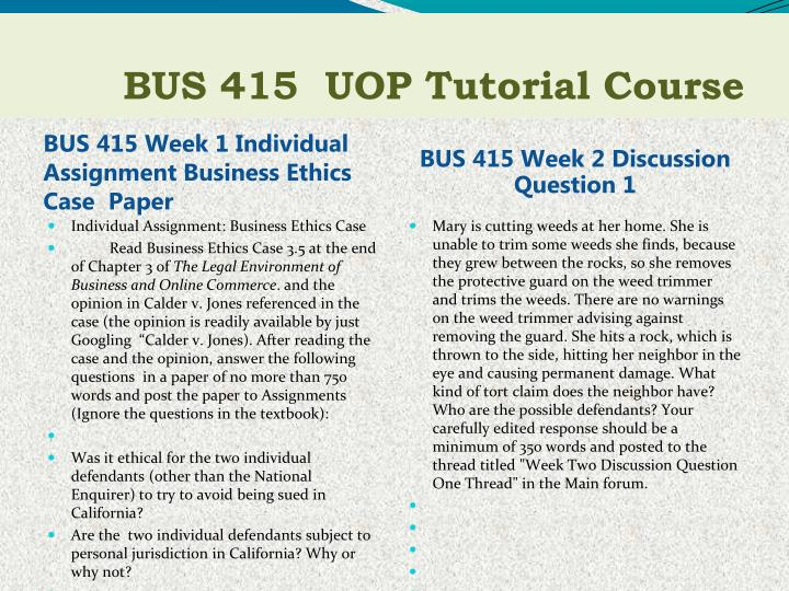bus 560 business ethics Here is the best resource for homework help with bus 309 1 : business ethics at strayer university find bus 3091 study guides, notes, and practice tests from.