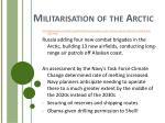 militarisation of the arctic
