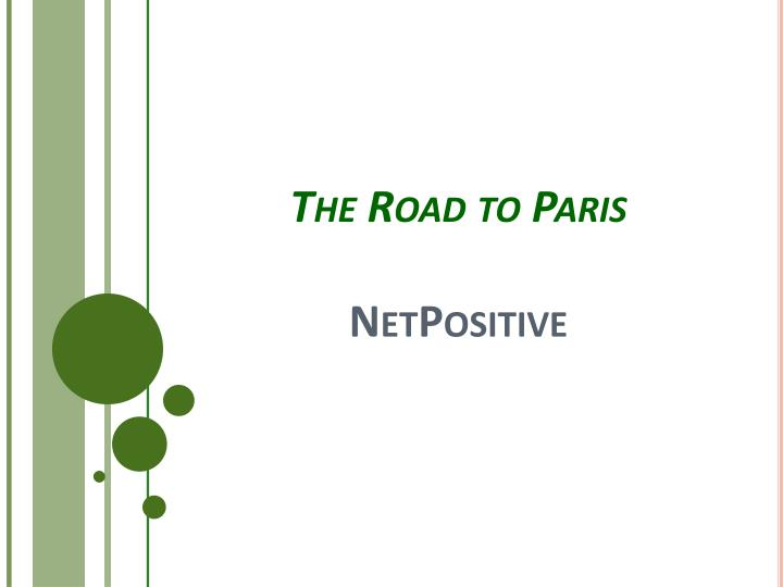 the road to paris netpositive n.