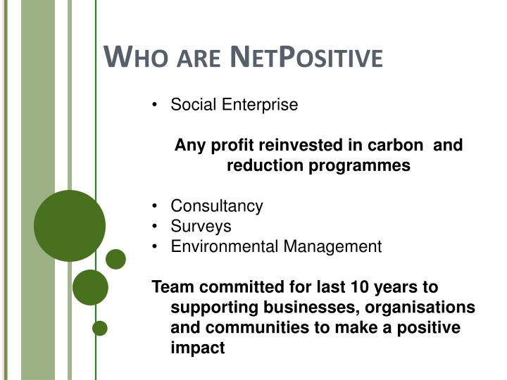 Who are netpositive