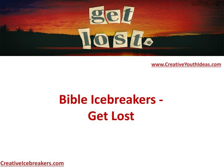 bible icebreakers get lost n.