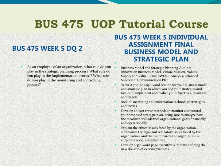 bus 475 week 2 dq 2 Bus 475 week 2 individual assignment strategic plan part i conceptualizing a business bus 475 week 2 individual strategic plan,part i conceptualizing a business click below url to purchase homework.