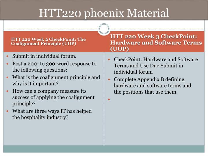 HTT220 phoenix Material