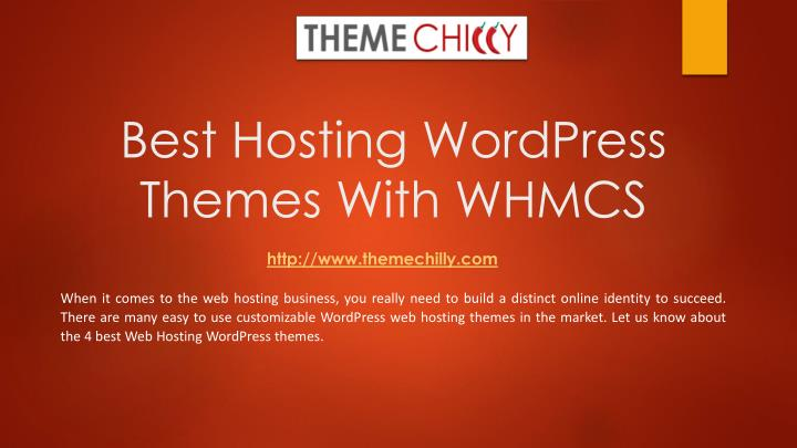 best hosting wordpress themes with whmcs n.