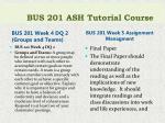 bus 201 ash tutorial course6
