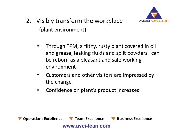 Visibly transform the workplace