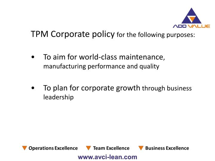 TPM Corporate policy