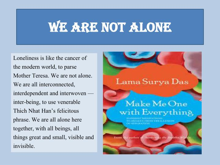 we are not alone n.