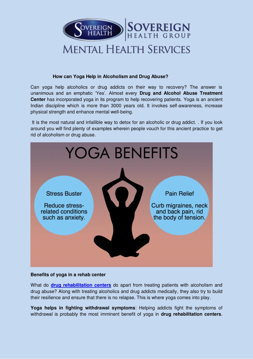 ppt - how can yoga help in alcoholism and drug abuse powerpoint