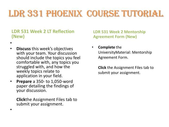 ldr 531 week 2 reflection paper