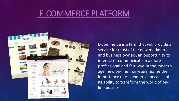 e commerce platform n.