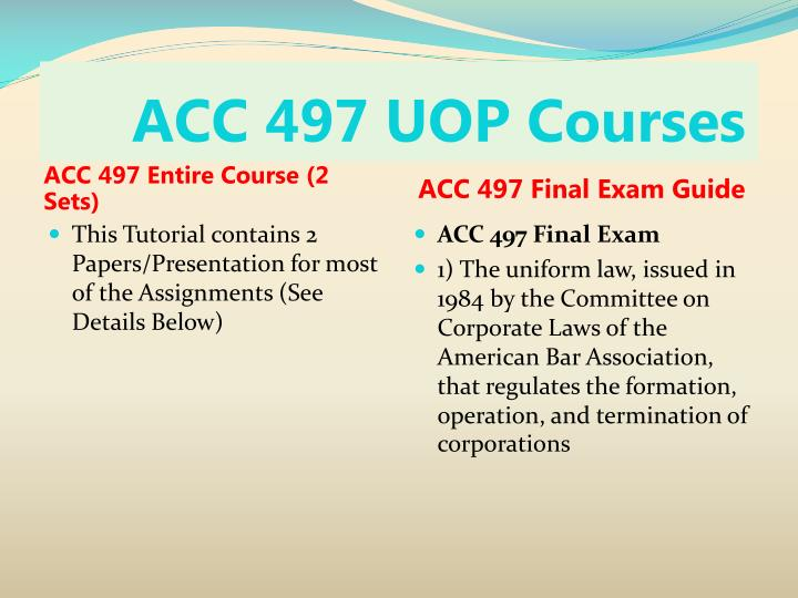 Acc 497 uop courses1
