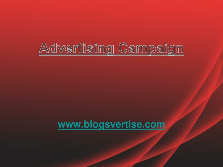 advertising campaign n.