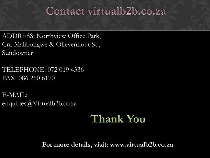 Contact virtualb2b.co.za