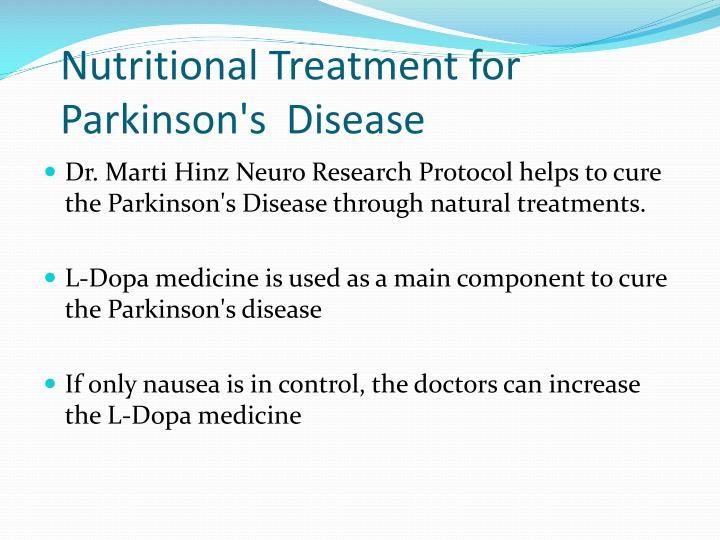 Nutritional Treatment for      Parkinson's Disease