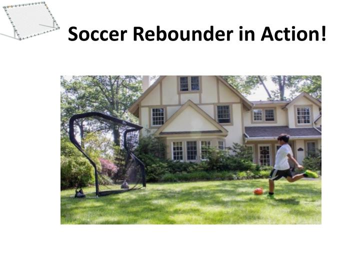 soccer rebounder in action n.