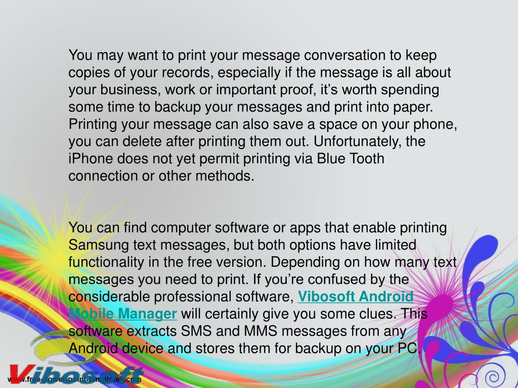 PPT - How to Print Off Text Messages from Samsung Galaxy S2