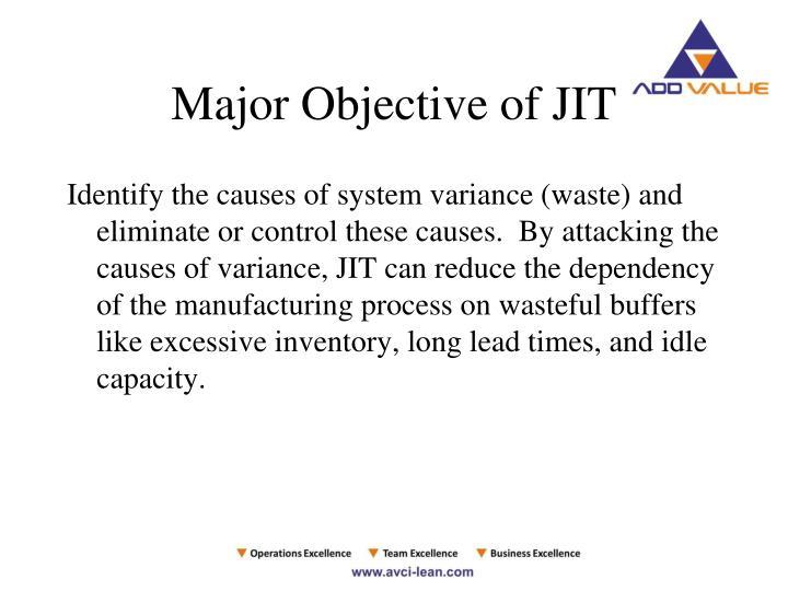 Major Objective of JIT