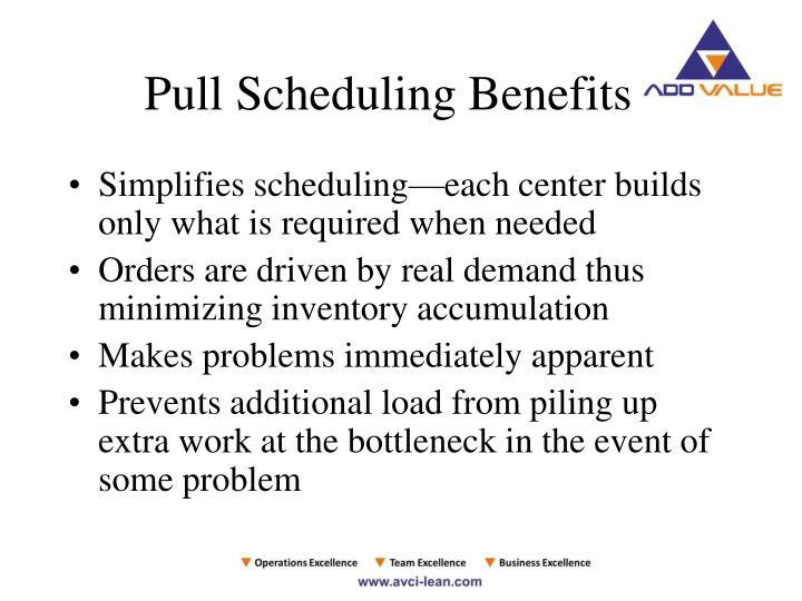 Pull Scheduling Benefits