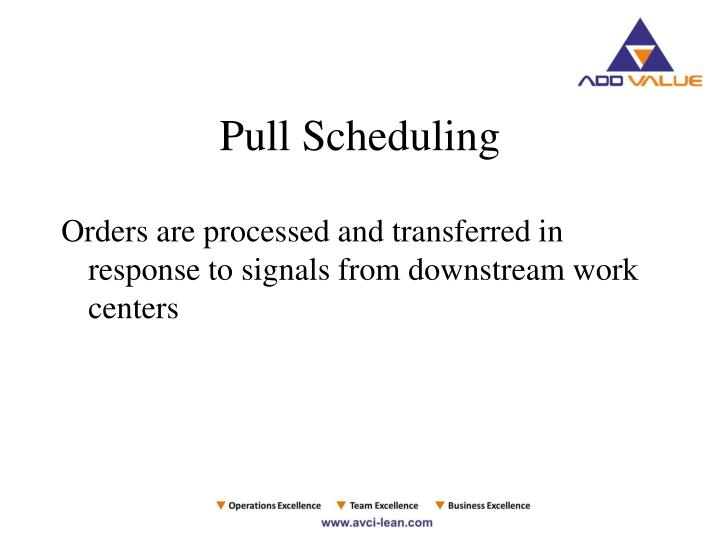 Pull Scheduling