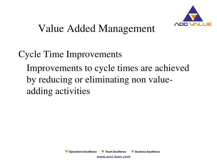 Value Added Management