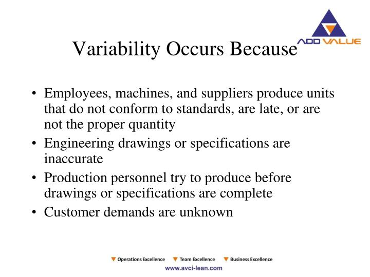 Variability Occurs Because
