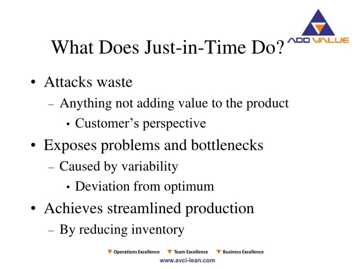 What Does Just-in-Time Do?