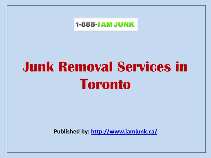 junk removal services in toronto n.