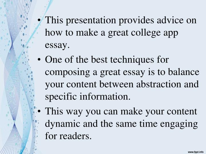 greatest college application essay Writing a college admission essay is the most important step of applying to the university ☝ the best college admission essay writing service.