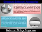 singapore bathroom accessories