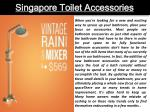 singapore toilet accessories