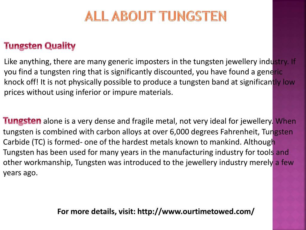 PPT - Tungsten Wedding Bands PowerPoint Presentation - ID