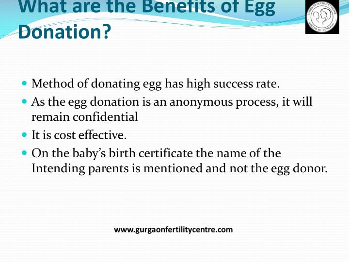 What are the benefits of egg donation2