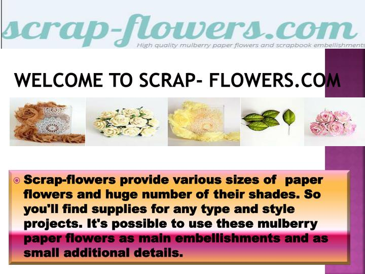 welcome to scrap flowers com n.