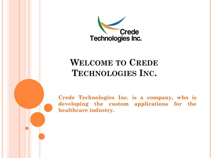 welcome to crede technologies inc n.