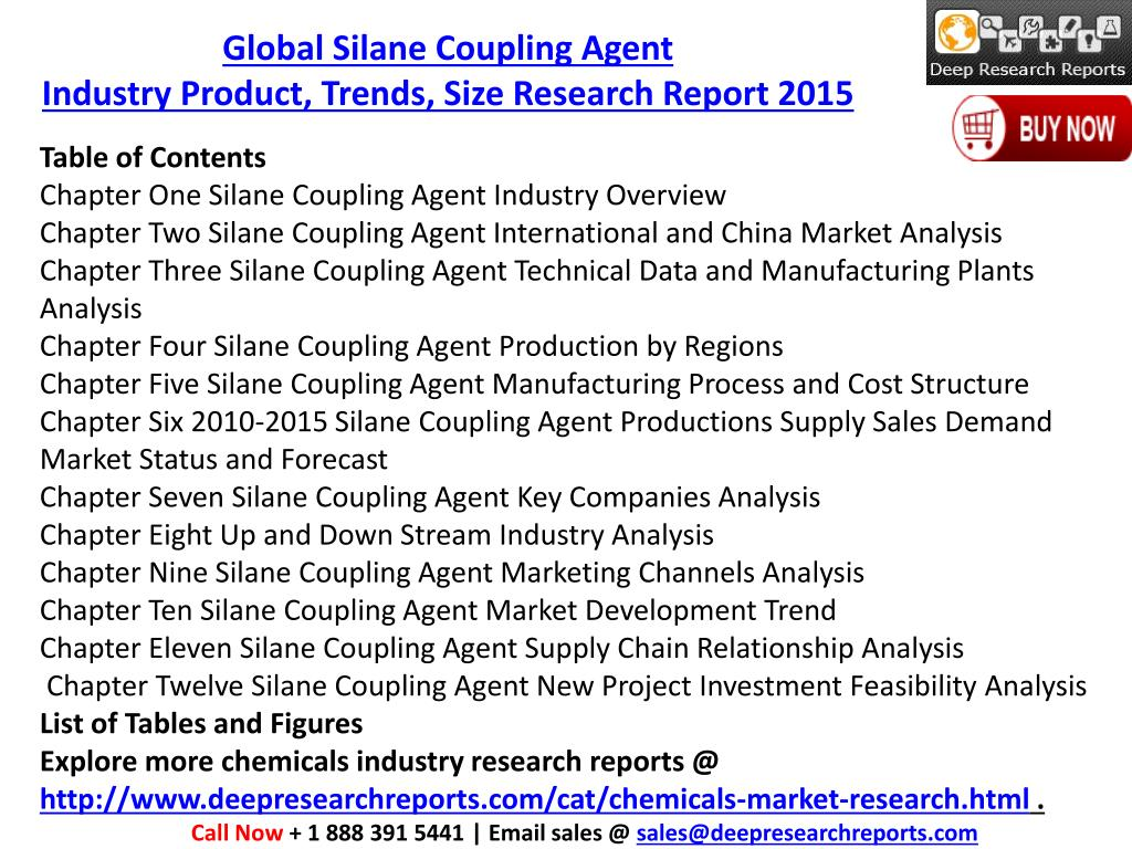 PPT - Global Silane Coupling Agent Market 2015 Production Value