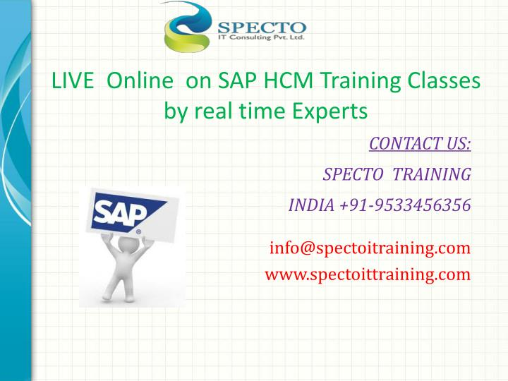 live online on sap hcm training classes by real time experts n.