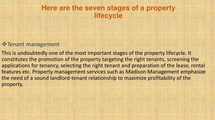 Here are the seven stages of a property