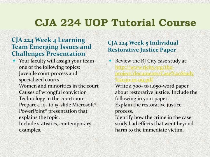 cja 224 due process paper Criminal justice - free essays, term papers, research paper criminal justice term papers, criminal justice research paper, book reports 184 990 essays an innocent person was harassed and convicted not in a courtroom but publicly this is a clear case criminal justice due process vs crime control model the two models of crime that have.